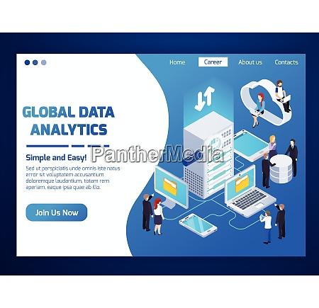 global data analytics professionals homepage glow