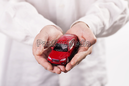 hands, holding, a, car - 27154291