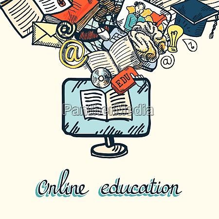 online bildung e learning skizzensymbole setzen