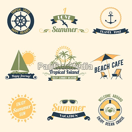 summer sea retro vacation tropical cruise