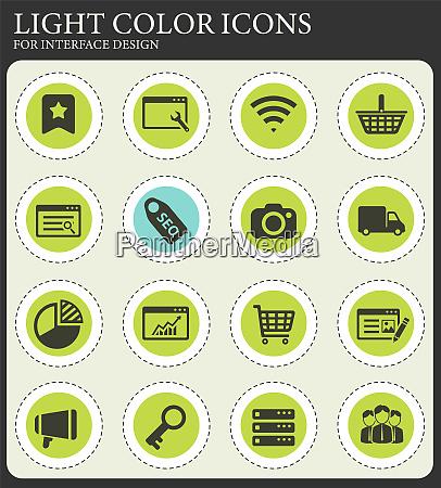 seo und entwicklung einfach icons