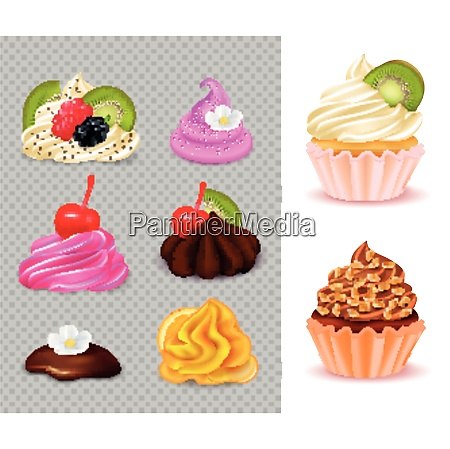 cupcake constructor with various appetizing toppings