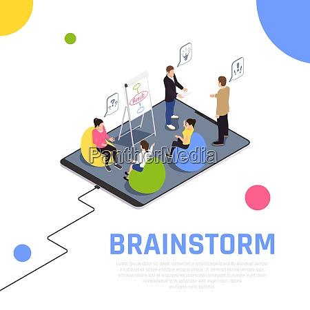 brainstorming teamwork technik bringt teammitglieder zusammen
