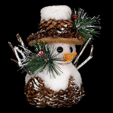 schneemann weihnachtsdekoration