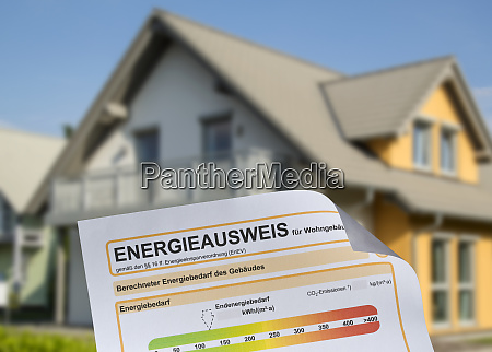 house with energy performance certificate
