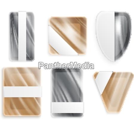 plastic metal or ceramic utensils of