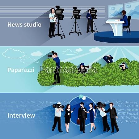fotograf und videofilmer horizontale banner mit