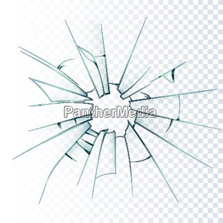 zerbrochene milchige fensterscheibe oder fronttuer glas