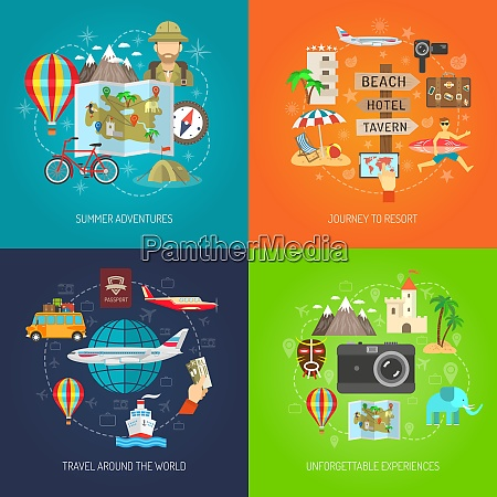summer adventure journey to resort and