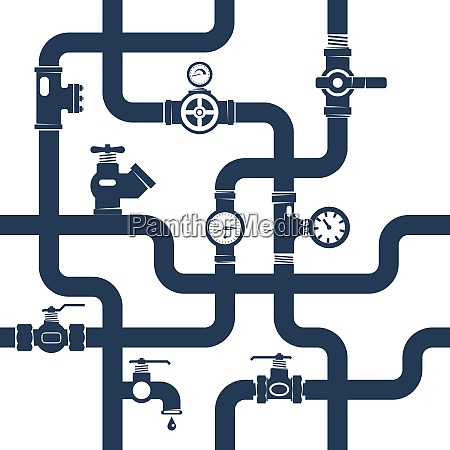 pipes system concept pipes vector illustrationpipes