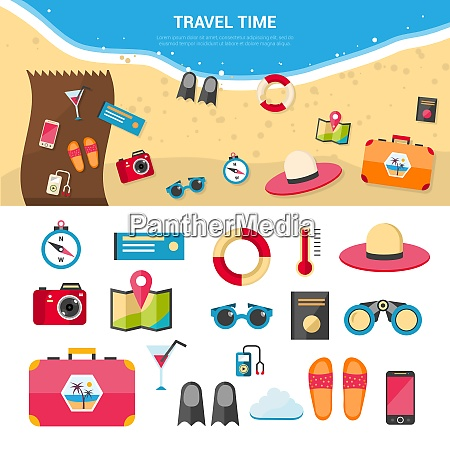summer vacation and sea resort travel