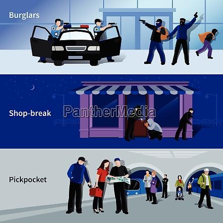 horizontal bewaffnete einbrecher und kriminelle begehen