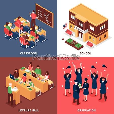 high school klassenzimmer unterricht vorlesung abschluss