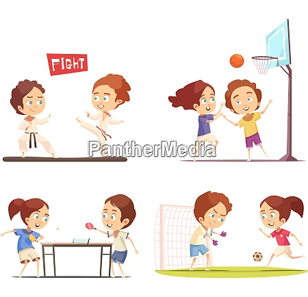 kinder sport 2 x 2 flache