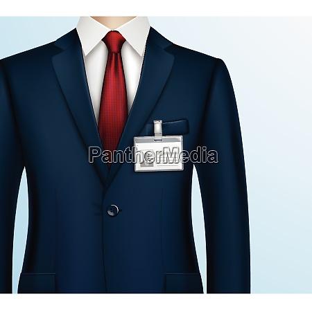 formal gekleidet in klassischen anzug geschaeftsmann