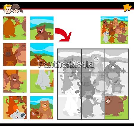 jigsaw puzzles with cartoon happy bears
