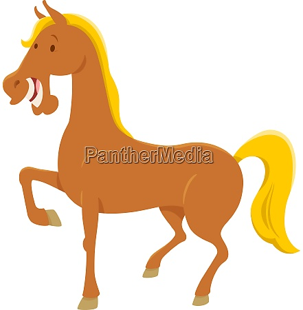 funny horse character cartoon illustration