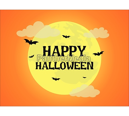 halloween background with full moon and