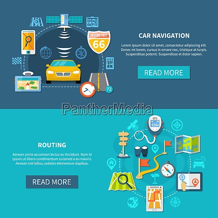 navigation horizontal banners with compositions of