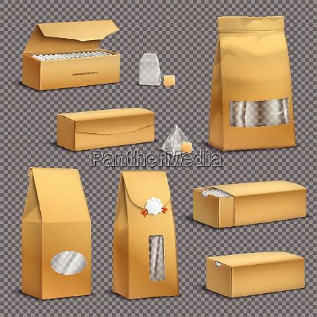 brown kraft paper tea bags and