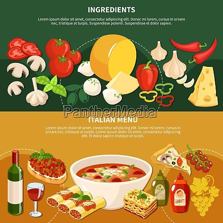 italienisch minestrone suppe bruschetta lasagne essen