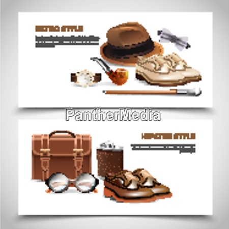 retro and hipster styles gentleman accessories
