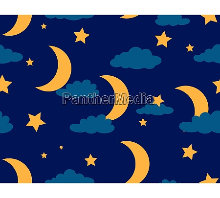 seamless pattern of moon and star