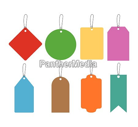 collection of colorful hang tags set