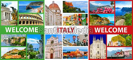 collage der wichtigsten italienischen reiseziele