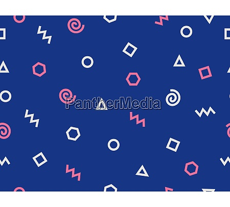abstract geometric shape doodle pattern on