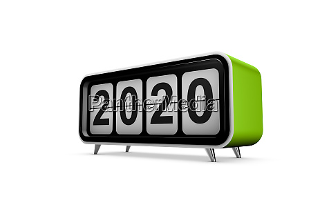 neues jahr 2020 konzept in 3d