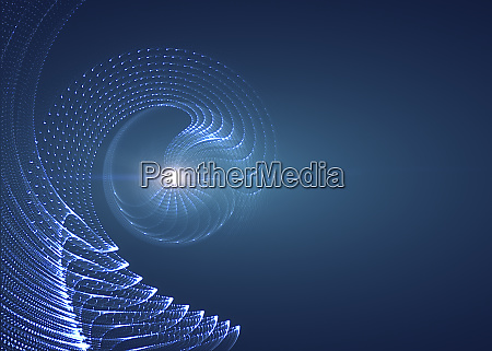 abstract blue background with curved lines