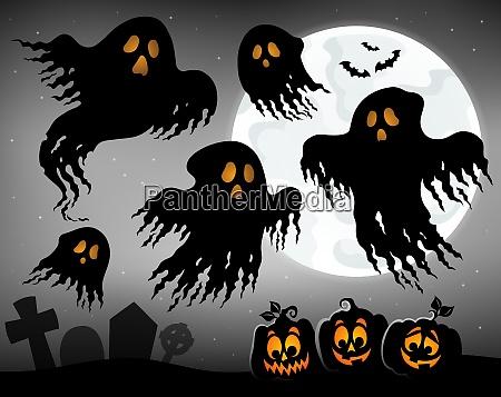 halloween bild mit geistern thema 1