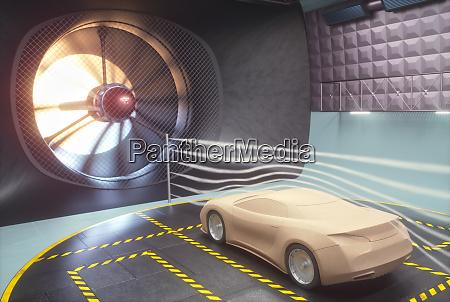 windtunnel clay car design transport