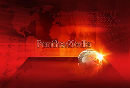 grafische digitale welt news hintergrundkonzept serie