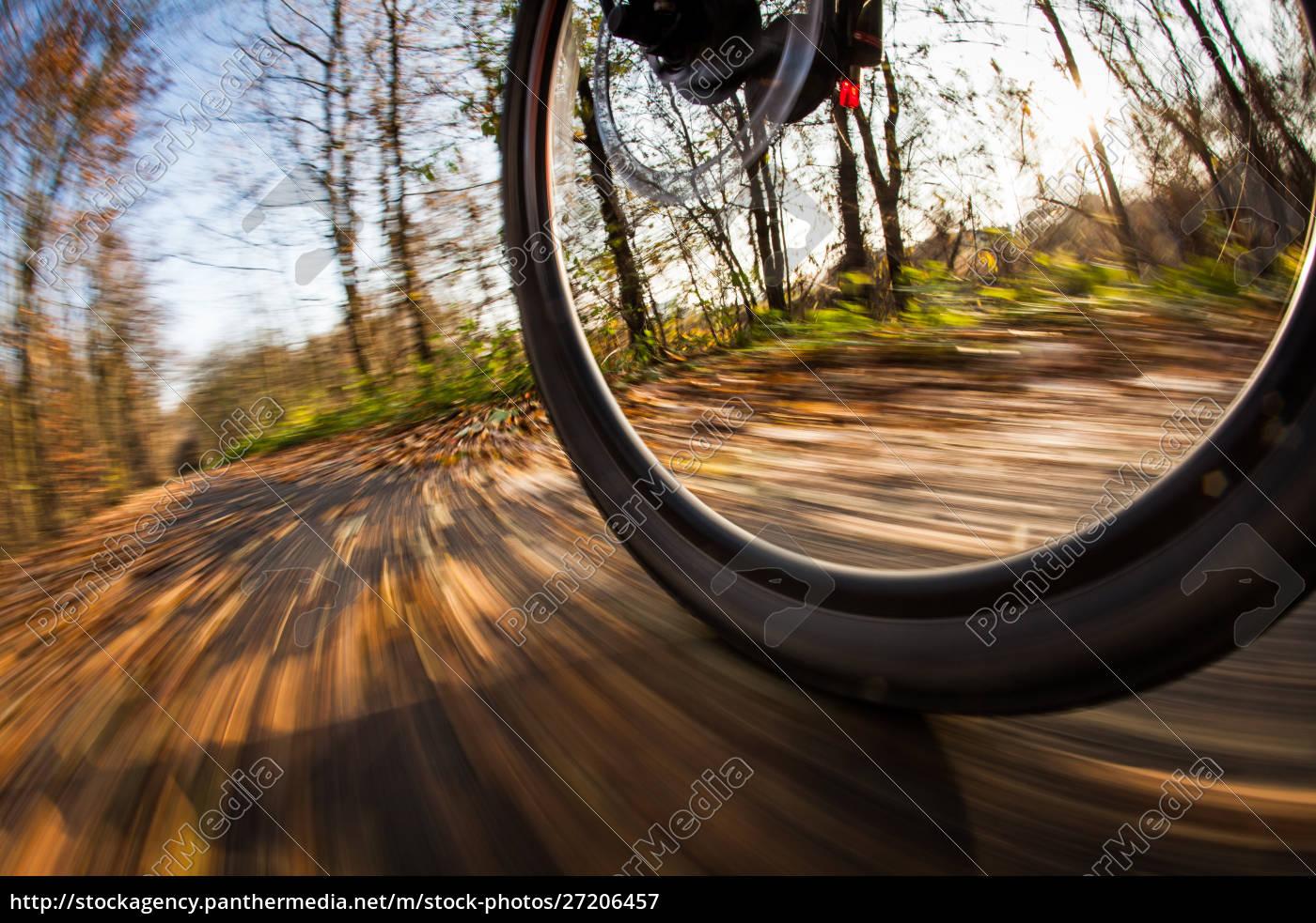 fahrradfahren, im, stadtpark, an, einem, schönen - 27206457