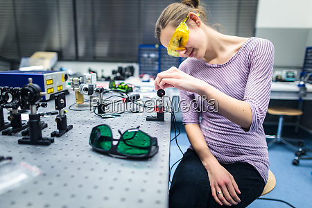 female scientist doing research in a