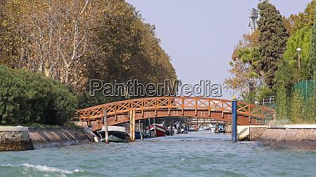 wooden bridge canal