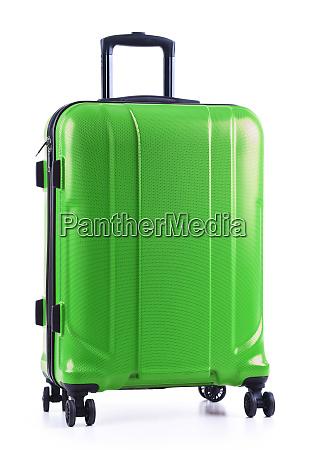 reisekoffer, isoliert, auf, weißem, hintergrund - 27209392