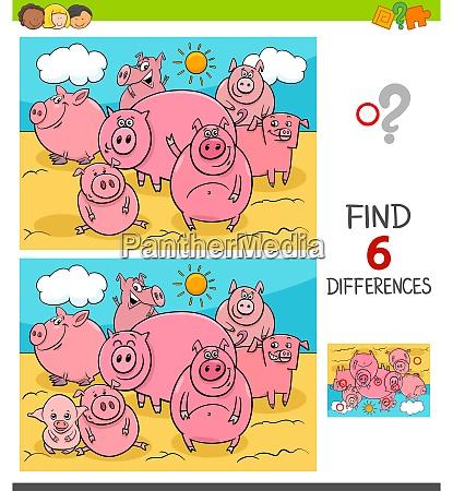 unterschiede spiel mit schweinen nutztiere