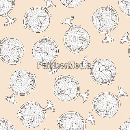 school globe seamless