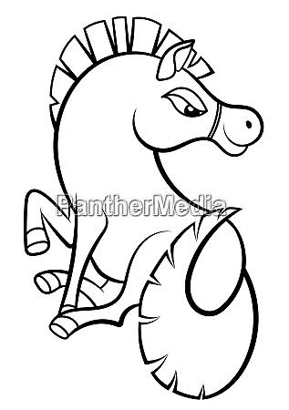 freche pferd zeichnung malbuch