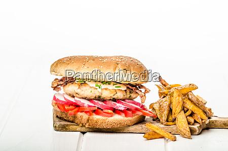 chicken burger healthy burger