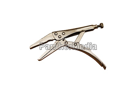new locking pliers on a white