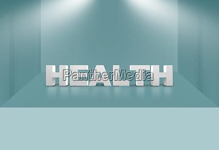 3d gesundheitstext zur 3d buehnenraum konzeptserie