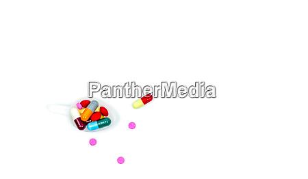 bunt von tabletten und kapseln pillen