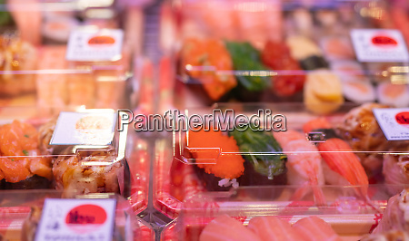 selektiver fokus auf sushi set in