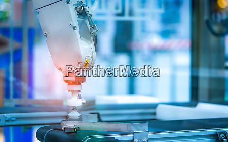 closeup roboter handmaschine verwenden sie intelligente
