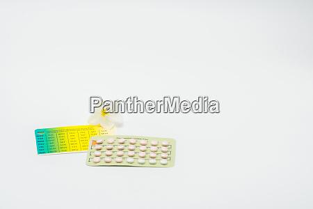 antibabypillen oder antibabypille mit papierkoffer und