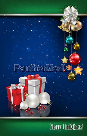abstrakter hintergrund mit weihnachtsdekorationen